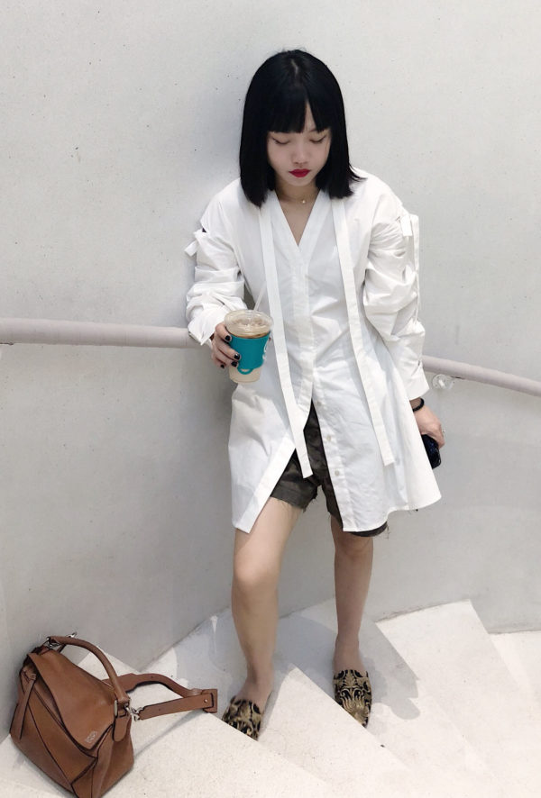 [ FROM ] Cotton Deconstructed Long Shirt