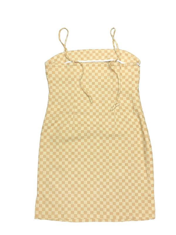[ FROM ] Mustard Linen Slip Dress