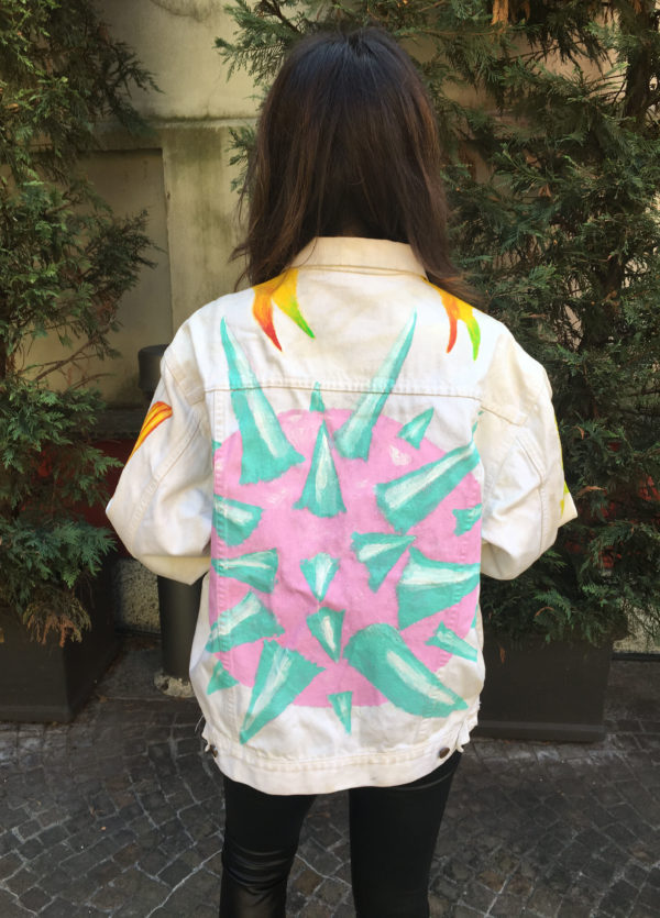 NO RIVALS Medioevo White 80s Denim Jacket